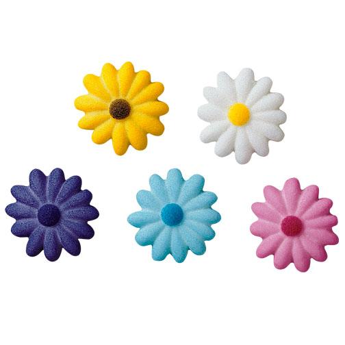 Daises Asst. Colors Sugar Decorations