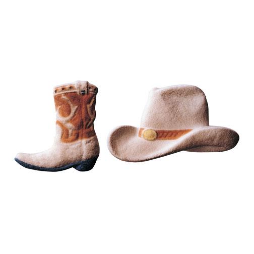 Cowboy Hat and Boot Sugar Decorations