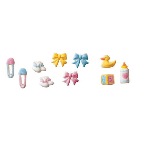 Deluxe Baby Asst. Sugar Decorations