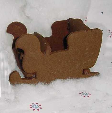 Sleigh Cookie Cutter - 3-D
