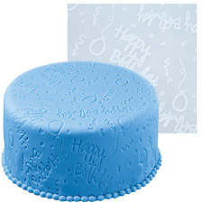 Happy Birthday Fondant Impression Mat