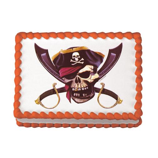 Pirate Skull Edible Image