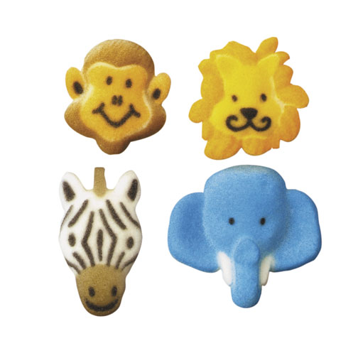 Jungle Animals Asst. Sugar Decorations