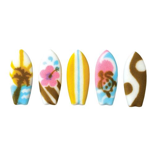 Surfboards Asst. Sugar Decorations
