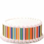 Happy Stripes Print Edible Image