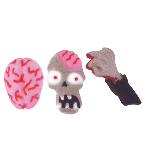Zombie Attack Asst. Sugar Decorations