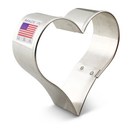 Teardrop Heart Cookie Cutter 2 3/4""