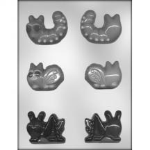 "2 1/2"" 3D Worm/Bugs Chocolate Mold"