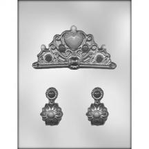 Crown & Earrings Chocolate Mold