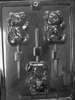 Sweet Teddy Bear Chocolate Sucker Mold