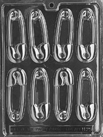Large Safety Pins Chocolate Mold