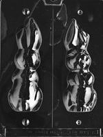 Large Hollow Flop Earred Bunny Chocolate Mold