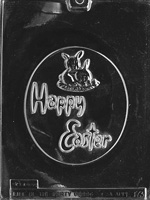 Large Oval Happy Easter Chocolate Mold