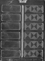 "1-1/8"" Fancy Chocolate Bar Mold"