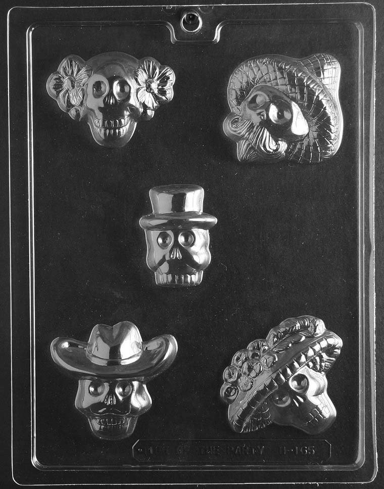 Day Of The Dead Chocolate Mold