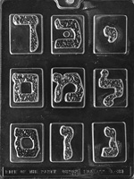 Hebrew Letters Chocolate Mold