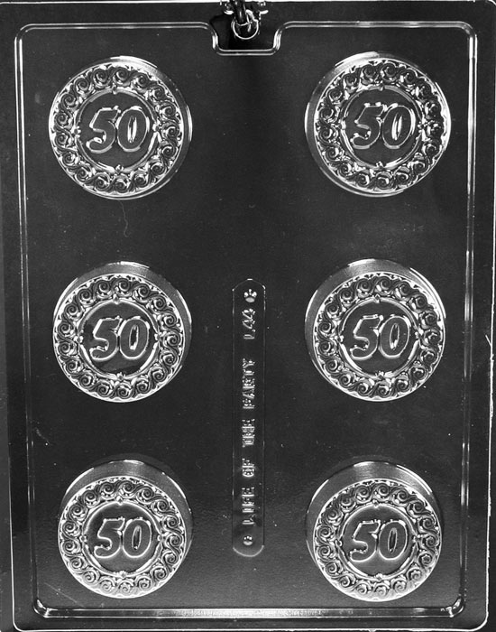 50th Chocolate Cookie Mold