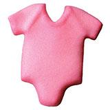 Baby Onepiece Pink Sugar Decorations