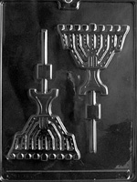 Menorah Chocolate Sucker Mold