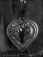 Heart Plaque Chocolate Mold