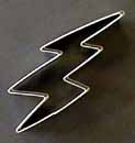 "5 1/2"" Lightning Bolt Cookie Cutter"