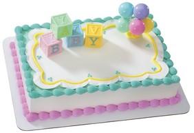 Baby Blocks Cake Topper