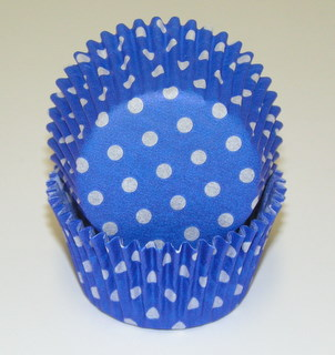 Blue polka Dot Baking Cup