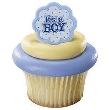 It's a Boy Cupcake Rings
