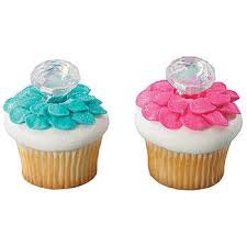 Diamond Cupcake Rings