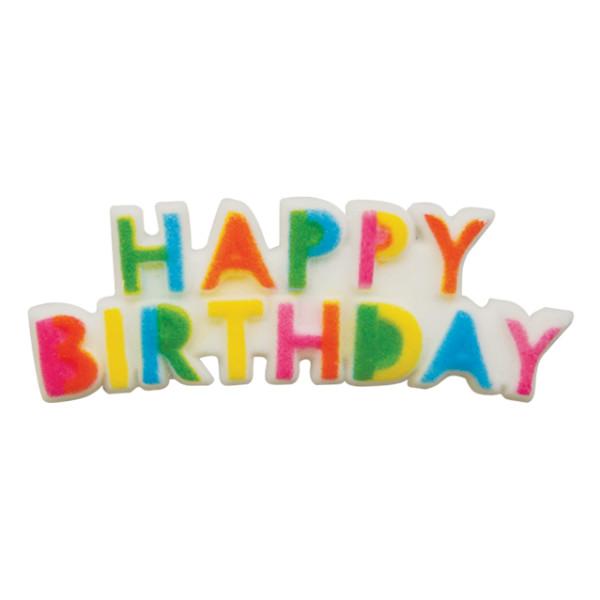 Happy Birthday Plaque Sugar Decoration