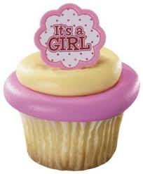 It's a Girl Cupcake Rings