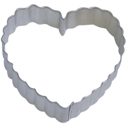 Heart-Scalloped Cookie Cutter 4""
