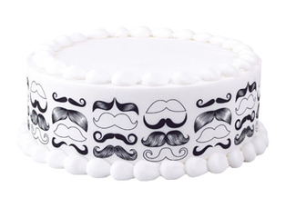 Mustache Print Edible Image