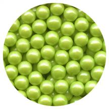 Pearl Lime Green Candy Beads 3.5oz.