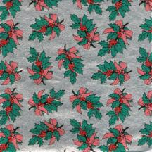 Holly 3 x 3  Foil Wrapper