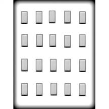 """Rectangles 1"""" Hard Candy Mold"""
