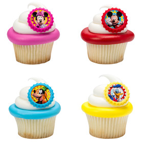 Mickey Mouse Clubhouse Cupcake Rings