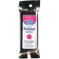 Satin Ice Fondant - Pink/Vanilla 4 oz