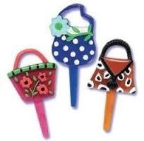 Couture Handbag Cupcake Picks