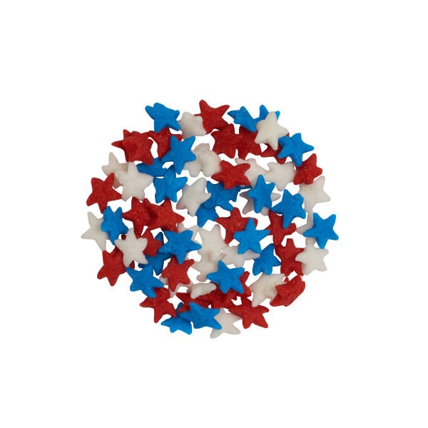 Star - Mini Red White and Blue Star Quins 3 oz.