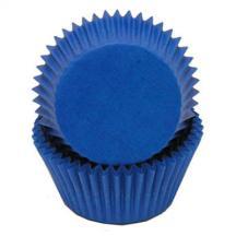 Mini blue baking cups