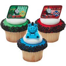 Thomas and Friends Cupcake Rings