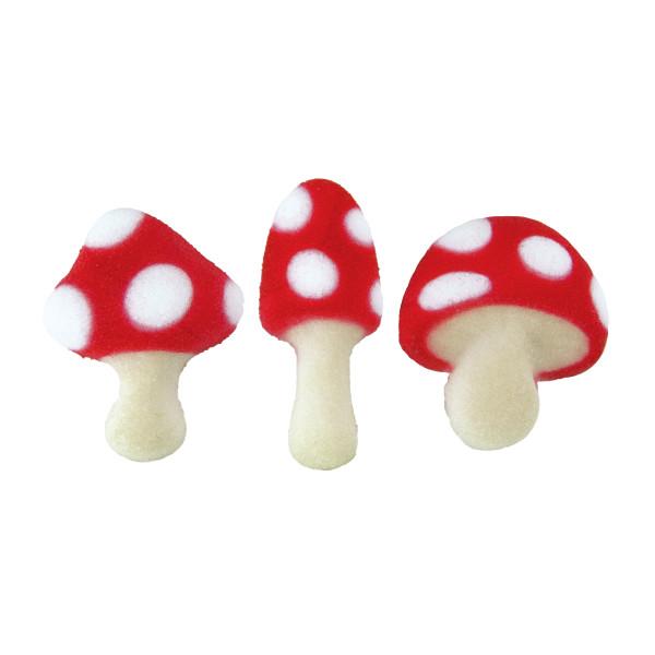 Toadstools Sugar Decorations