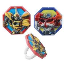 Transformers Cupcake Rings