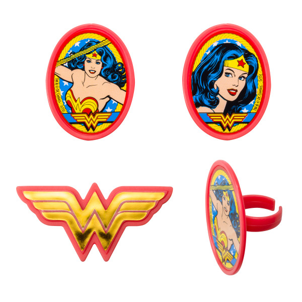 Wonder Woman Cup Cake Topper