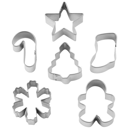 Holiday Mini Metal Cookie Cutter 6 piece Set
