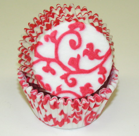 Red Ivy Baking Cups