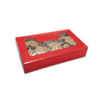 8-1/2 x 5-3/8 x 2 Red Cookie Box 1#