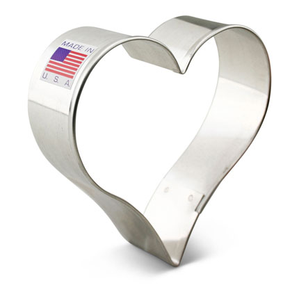 Tear Drop Heart Cookie Cutter 3 1/4""