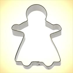 "Gingerbread Girl Cookie Cutter - 4.5"""
